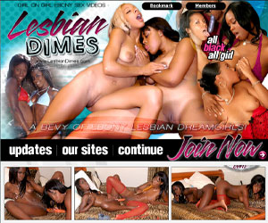 Lesbian Dimes - Gorgeous Sexy Ebony Girls Teasing and Fucking Each Others' Hot Black Pussies!